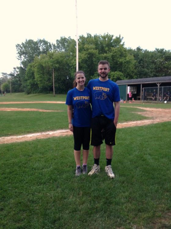 Zach and I Softball