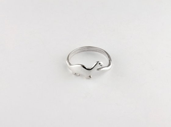 Etsy Dinosaur Sterling Silver Ring