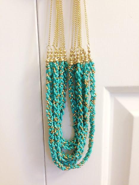 Turquoise Zinnia Necklace